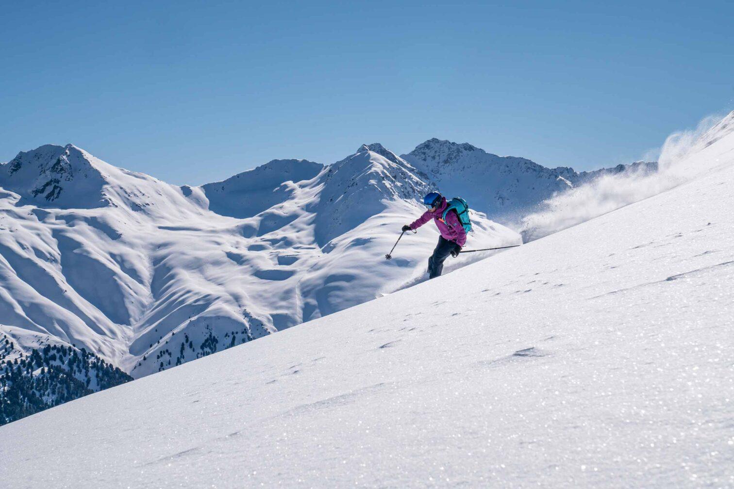 Graubünden Leben & Arbeiten - Die Skifahrerin